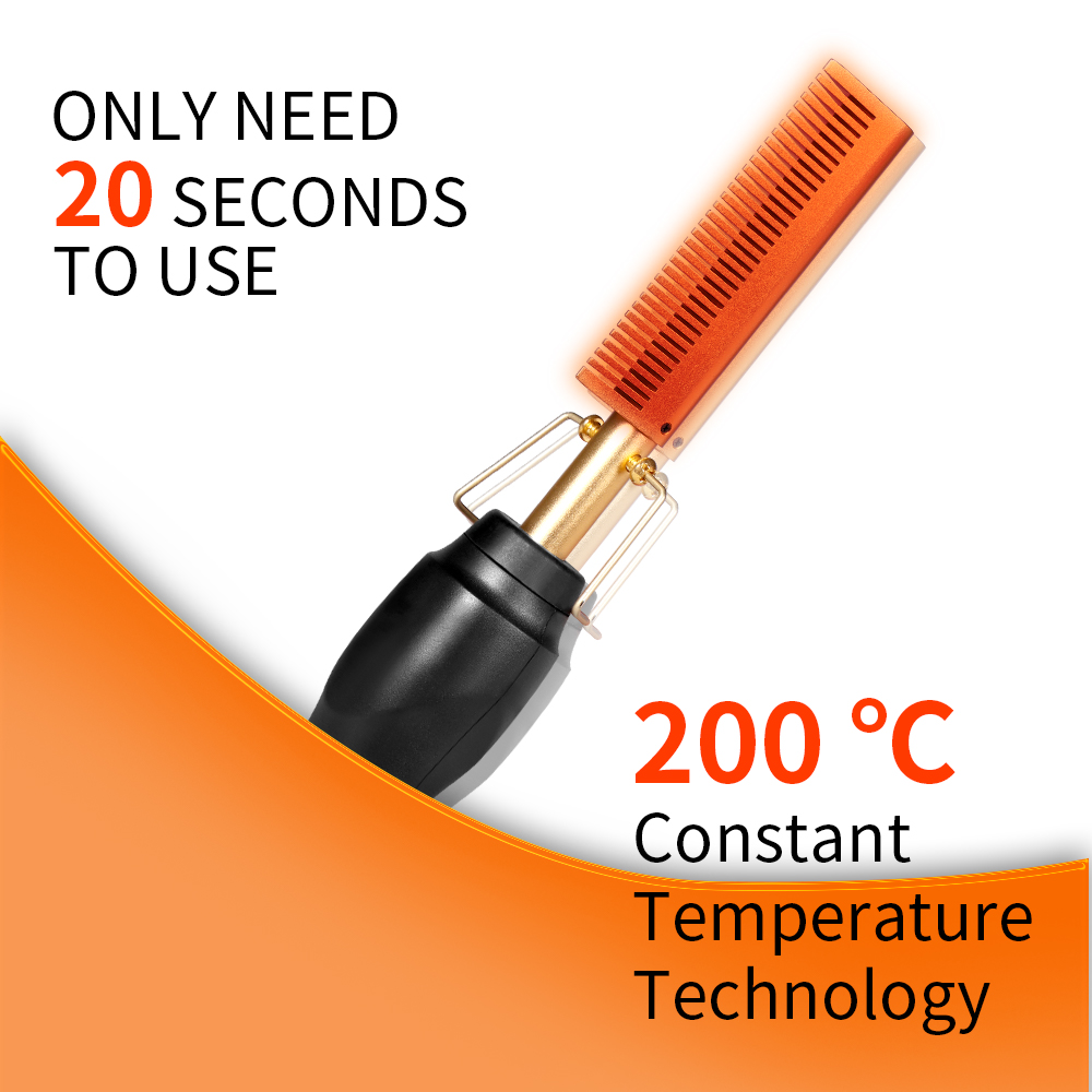 2 in 1 Hot Comb Straightener  Electric Hair Straightener Hair Curler Wet Dry Use Hair Flat Irons Hot Heating Comb For Hair 4