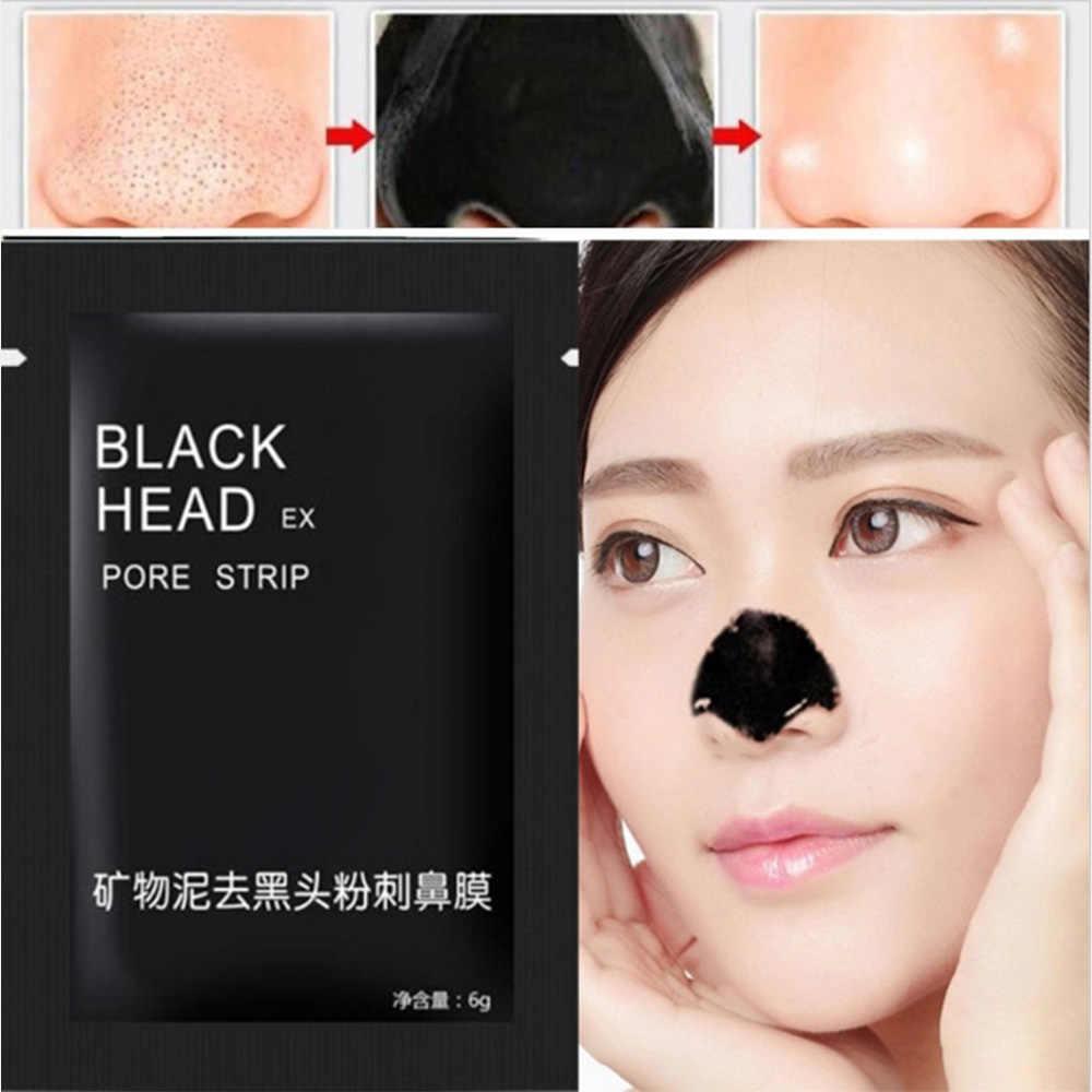 2 pièces soins du visage minéraux du visage Conk nez points noirs dissolvant masque nettoyant, nettoyage en profondeur tête noire EX pores Strip