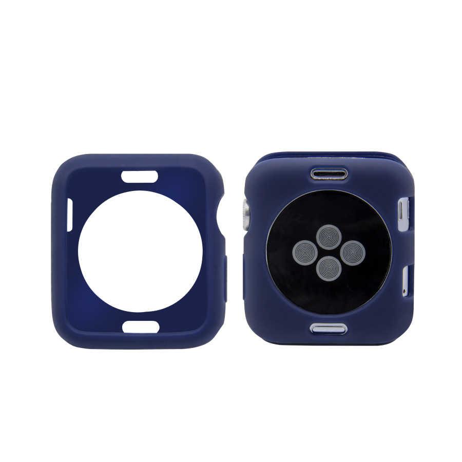 Мягкий силиконовый чехол ярких цветов для Apple Watch Series 4 5, защитный бампер из ТПУ 40 мм 44 мм для iWatch 3 2 1 38 мм 42 мм