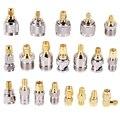 SMA для BNC N F UHF Тип комплекты разъемов RF адаптер 20 Тип, SMA типа «мама» к F разъем со штекером, SMA типа «Мама» к F Женский
