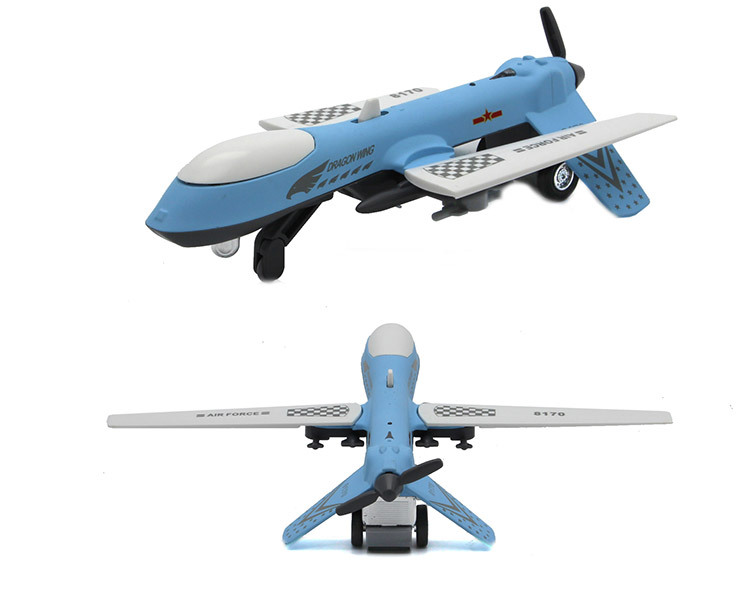 Alloy Pterosaur Unmanned Aerial Vehicle Fighter Plane Airliner Alloy Aircraft Model Sound And Light Model Metal Children Plane T