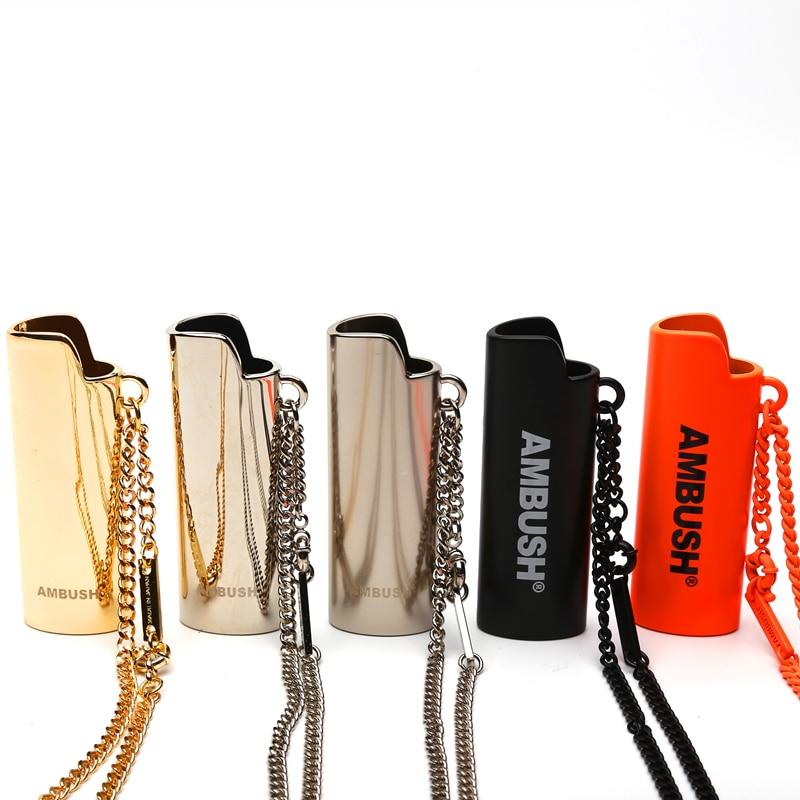 20SS High Quality Ambush Necklace Pendant Pure Copper Lighter High Street Hip Hop Unisex Couples Ambush Pendant Belt Buckle