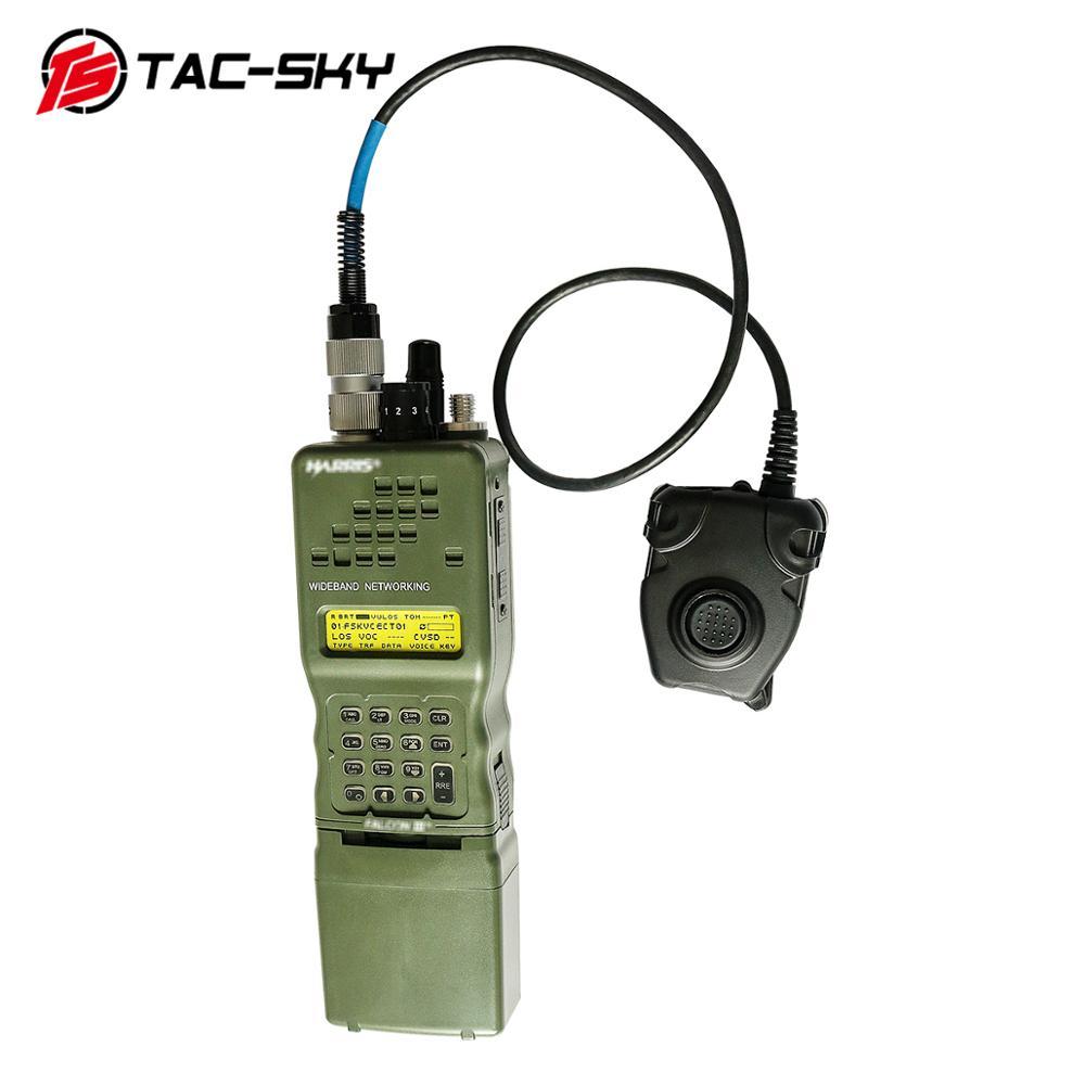 Купить с кэшбэком TAC-SKY 6 pin peltor ptt+tactical headset interphone model radio military Harris virtual case AN/PRC152 152A radio virtual box