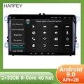 Harfey 2 din 4-ядерный GPS Navi Автомобильный мультимедийный плеер Android 8 1 авто радио для Skoda/Seat/Volkswagen/VW/Passat b7/POLO/GOLF 5 6