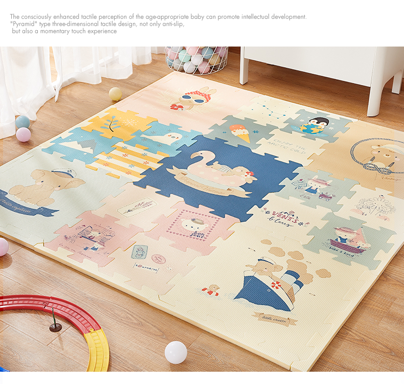 H6115a62634904e46818091c6a10544d7V BabyGo Puzzle Baby Play Mat XPE Foam Waterproof 2cm Thickened children's Carpet Crawling Pad Living Room Activity Floor Mat