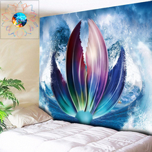 Mermaid Tail Psychedelic Tapestry Mandala Wall Hanging Boho Decor Hippie Carpet toalla mandala tapiz pared tela