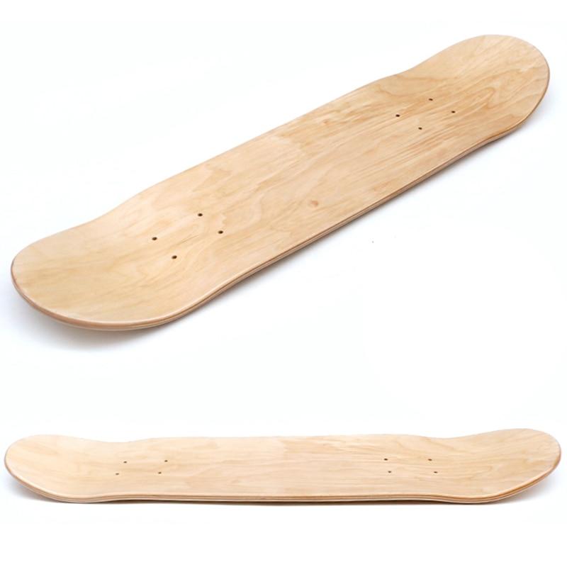 Skateboard Deck 7 Layers Wood Maple Double Concave Skate Board 28 Inch Longboard Double Rocker No Printing DIY Part Blank Board
