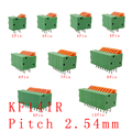 5PCS KF141R KF141V 2.54mm Pitch PCB Straight / Bent Foot Connectors 2/3/4/5/6/7/8/9/10 Pin Spring Screless Terminal Blocks Green