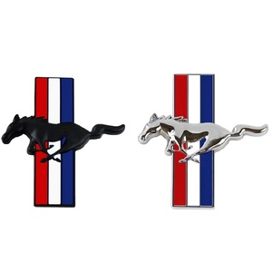 Image 2 - 1Pair Door Fender 3D Emblem Car Sticker Running Horse For Ford Mustang Badge Logo Decal Car Styling Free Shipping