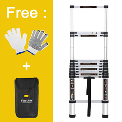 Finether 3.2M Portable Heavy Duty Multi-Purpose Aluminum Telescoping Ladder Lightweight Convient for Home Loft Office
