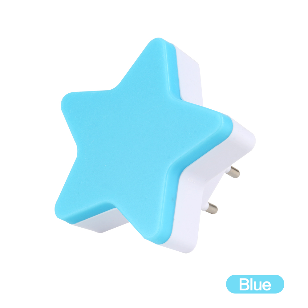 Light Sensor Control Mini Star LED Night Light For Dark Night Children Bedroom Bedside Lamp With EU/US Plug Baby Sleeping Light