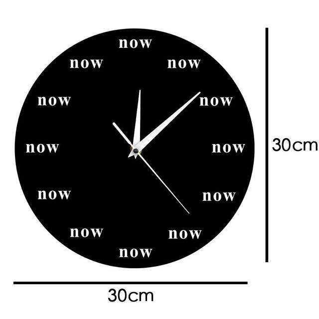 Horloge murale Time is maintenant emblématique | Horloge de motivation, votre rappel quotidien pour vivre dans le trésor, vos enfants, cadeau