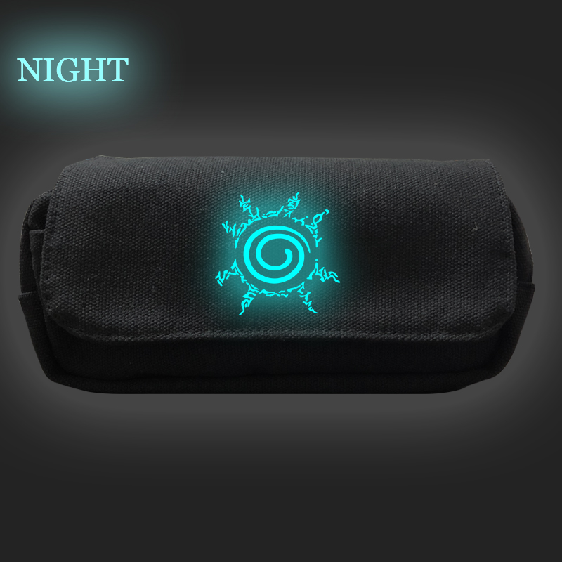 New Fashion Pencil Case Naruto Print Bag Pencil Bags Pen Holders Large Storage Bag School Supplies Stationery Cosmetic Bags New