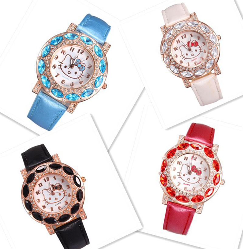 Kids Watch Quartz Children Watches Cute Cartoon Delicate Crystal Dial Girl Clock Drop Shipping Montre Enfant Kinder Horloge Saat