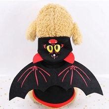 цена на Halloween Pet Clothes Bat Wings For Cat Puppy Dogs Funny Bat Costume Cat Kitten Dog Party Cosplay Clothing Pet Products XS-XXL