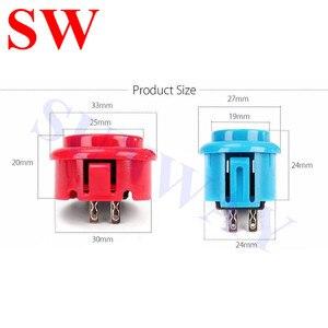 Image 5 - DIY Arcade Joystick Kit 5Pin Joystick Cable 24mm/30mm Buttons USB Encoder Oval ball top joystick 5 Color Optional