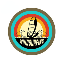 Windsurfing Funny JDM Car Stickers 3D Funny Personality Scratch-proof Window Trunk Vehicle Decal Logo Car Truck Surfboard Decal