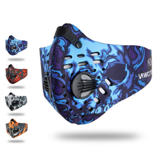 Winter Cycling Training Face Mask Bicycle Anti Haze Activated Carbon Breathable Warm Anti-Pollution Activated Carbon Sports Mask foreo call it a night ufo activated mask