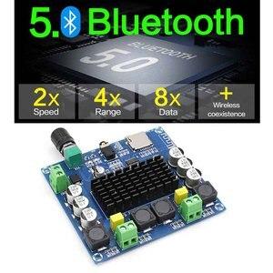 Image 3 - Kyyslb dc12 ~ 30 v 100 w * 2.05.0 bluetooth 증폭기 보드 tda7498 XH A105 디지털 증폭기 보드 지원 aux 온보드 전위차계