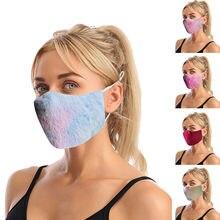 Novo estilo tecido máscara gravata-tintura maskadulto & kidswarm orelha-máscara ao ar livre equitação dimensional máscara rímel tejida de novo estilo