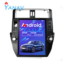 цена на GPS Navigation DVD Player for-Toyota Land Cruiser Prado 10-13 verticl Tesla style Car multimedia unit For-Toyota Land CRUISER