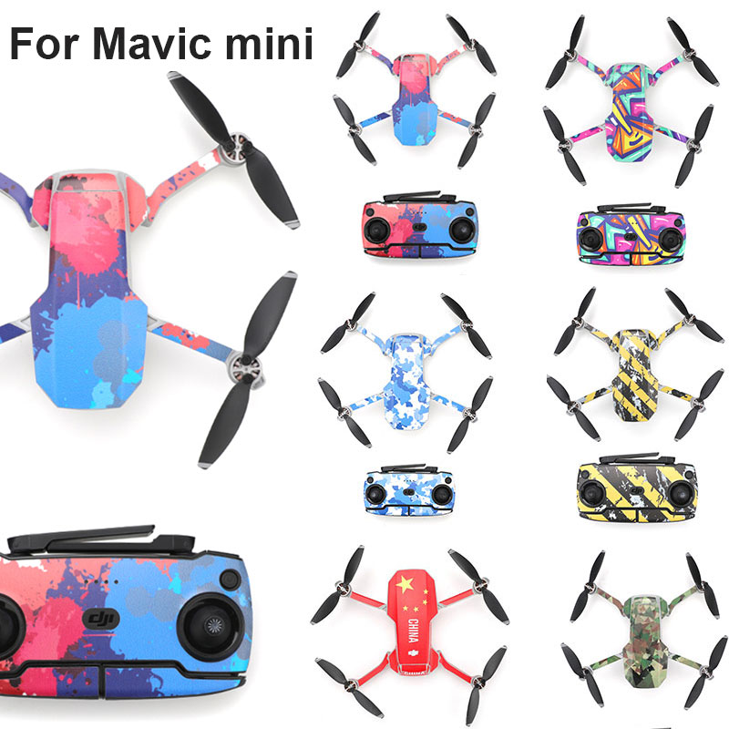 Protective Film PVC Stickers for Mavic Mini Colorful Waterproof Scratch-proof Decals Full Cover Skin for DJI Mavicmini Accessory