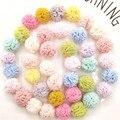 50 шт./лот разноцветный сетчатый шар «сделай сам» для детей головной убор заколка для волос аксессуары и аксессуары для одежды