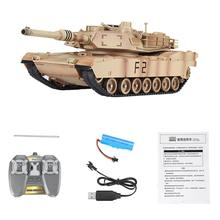M1A2 1/24 2.4G Remote Contro RC Tank Electrically Car Vehicle Models Toy Electronic Games for Children Boys Birthday Gifts
