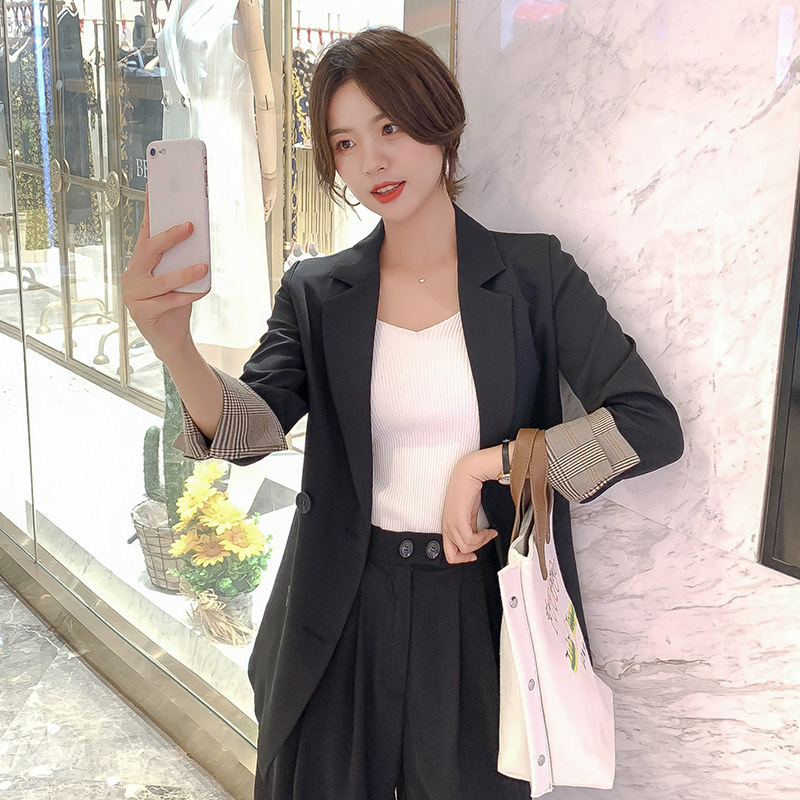 2020 spring and summer new small suit jacket women Korean loose British style net red ladies suit temperament tops women