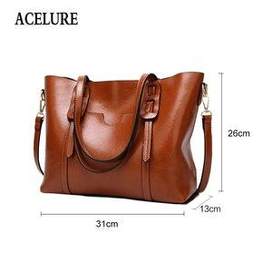 Image 2 - ACELURE Vintage sac à bandoulière en cuir synthétique polyuréthane pour femmes femme grand fourre tout sac à main affaires femmes messager sac à bandoulière pour femmes bolsas