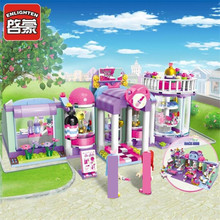 ENLIGHTEN 485Pcs City Enlicity Beauty Shop Friends Enlighten Building Blocks Kids Educational Construction Bricks Toys 217pcs original girls legoelieds friends emmas horse trailer building blocks for kids sunshine ranch bricks construction toys 3