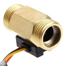 Flow Sensor G1/2'' Water Flow Hall Sensor Switch 1-25L/min Flow Meter Flowmeter 28TC
