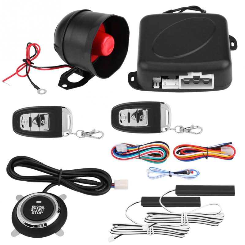 Universal Car Alarm System Engine Ignition Keyless Entry System Push Button Remote Starter Car Accessories