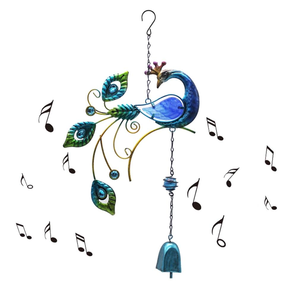 1 шт. украшение для окна балкона, колибри, ветряные колокольчики, двор, домашняя настенная подвесная птица, колокольчики, украшение для искус...