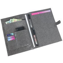 Bolsa de documentos con letras y monograma, Archivador A4 con patrón de pitón bordado, de negocios, alta calidad, para Ipad