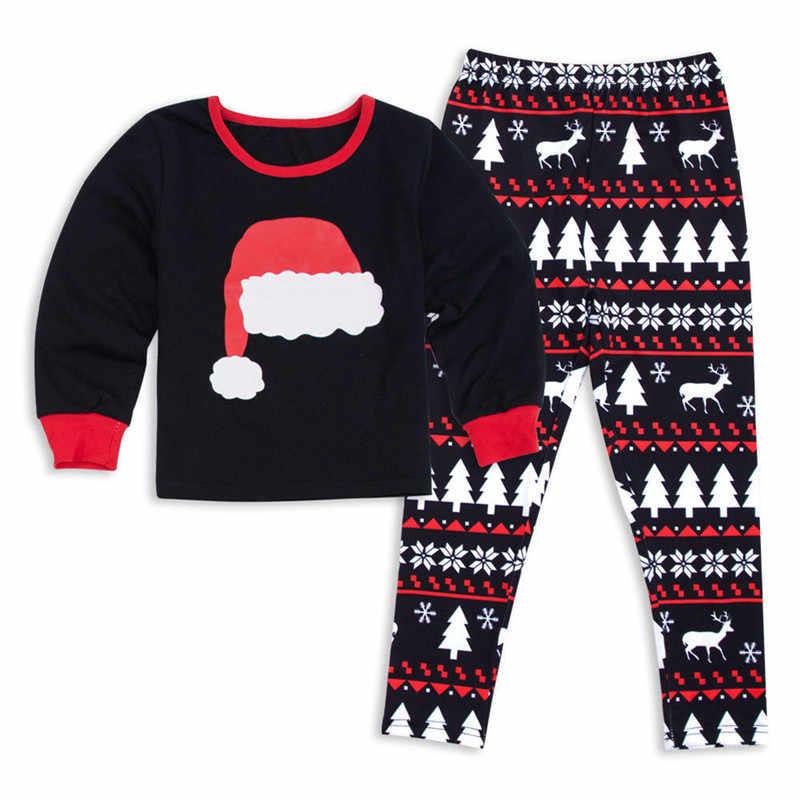 คริสต์มาสครอบครัว Xmas ชุดนอนชุดเด็กพ่อผู้ใหญ่ PJs สนุกชุดนอนชุดนอนสบายๆชุดเสื้อผ้า