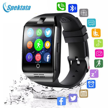 Bluetooth Smart Watch Men Q18 With Camera Facebook Whatsapp Twitter Sync SMS Smartwatch Support SIM TF Card For IOS Android bluetooth smart watch men android call watches facebook whatsapp sport band sim tf card healthy sleep reminder kids smartwatch