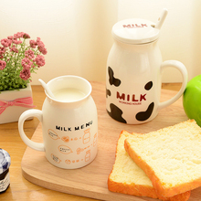 Cartoon Ceramic Mug Cute Kids Breakfast Milk Cup Office Couple Coffee Tea Cups Children Drinkware Heat-resistant Drinking Mugs cartoon cute cup ceramic about 350ml mug breakfast coffee milk cup couple drinking cup creative student with cup handgrip mugs