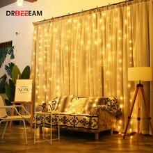 4,5 м x 3 м 304 светодиодов для дома, улицы, праздника, Рождества, декоративные свадебные, рождественские гирлянды, сказочные гирлянды, гирлянды, вечерние гирлянды