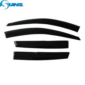 Image 2 - Black Side window deflectors rain guard door visor For VW PASSAT 2011 2018 SEDAN Wind shields wind deflectors car styling SUNZ