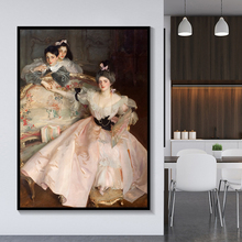 Citon Canvas Oil painting John Singer Sargent《Mrs Carl Meyer and her Children》Artwork Poster Picture Wall Decor Home Decoration hirshler great expectations john singer sargent painting children