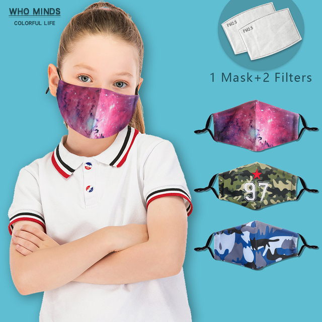 Galxy Reusable Facemask Washable Children Mask Stylish Face Mask With Filter Mask Adjustable Straps Cotton Mask Cute Flu Masks