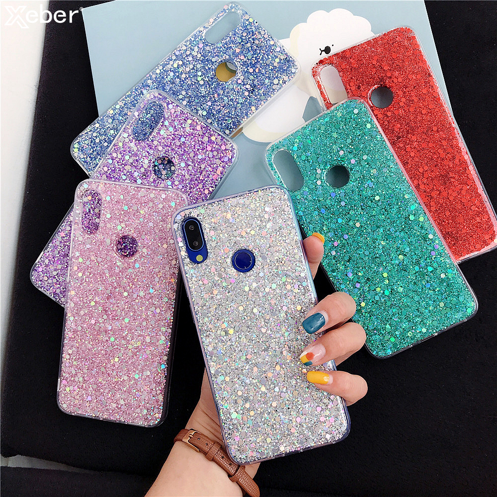 Luxury Silicone Bling Glitter Crystal Sequins Phone Case For Xiaomi 8 9 SE LITE Redmi 5 Plus 6 Note 7 6 5 Pro Soft Bling Cover 1