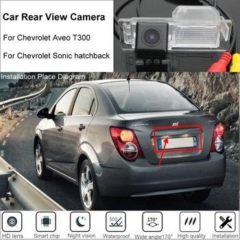 Yeshibation vista trasera de coche cámara de aparcamiento para Chevrolet Aveo T300/Sonic 2011 ~ 2016 cámara de reversa CCD de alta calidad