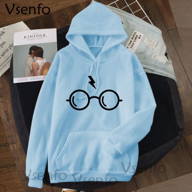 Harajuku Women's Hoodies Hary Style Glasses Print Sweatshirt Pullover Streetwear Moleton Feminino Vintage Clothes Drop 11