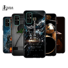 Silicone Cover Guitar instrument music Phone Case for Huawei Honor 30 20 Pro 10i 9A 9S 9X 8X 10 9 Lite 8 8A 7A 7C Pro silicone cover framed flower phone case for huawei honor 30 20 pro 10i 9a 9s 9x 8x 10 9 lite 8 8a 7a 7c pro