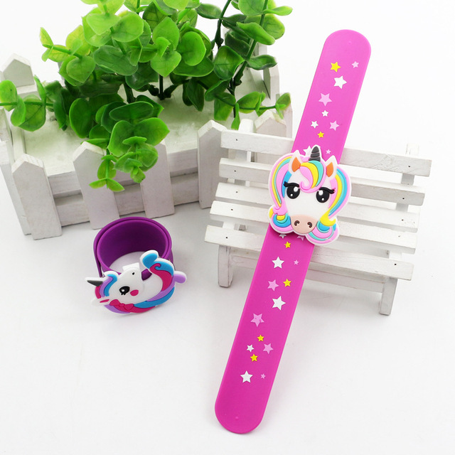 New Unicorn Party Rubber Bangle Bracelet Unicornio Birthday Party Decorations Kids Gifts Baby Shower Boy Girl Event Party Favors