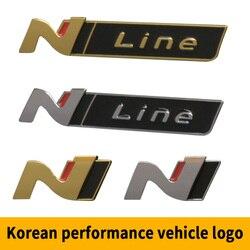 3D Metal Car Sticker N logo N line Logo Decal for Hyundai Mistra Lafesta Elantra Accent IX35 I20 I30 I35 Solaris Azera Sonata