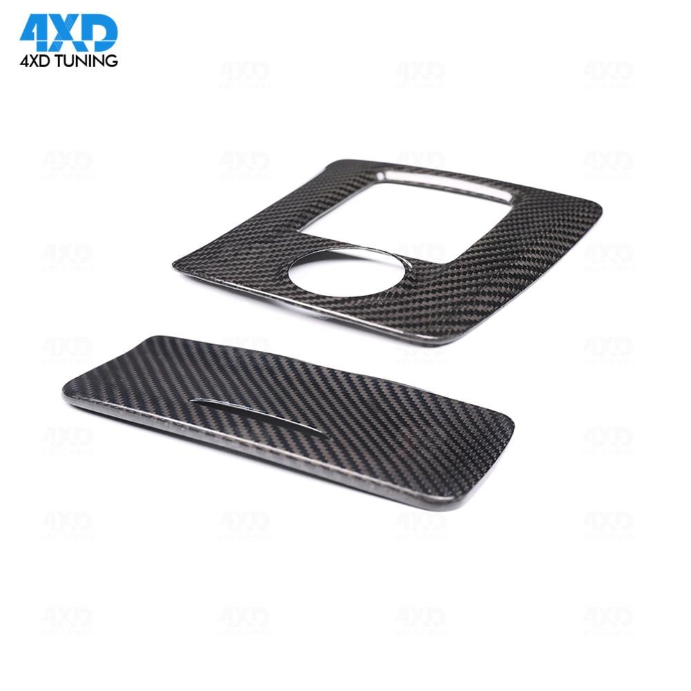 Accessories Interior Trim For Mercedes A45 CLA45 GLA45 AMG Carbon Fiber Gear Surround Compartment Cover LHD 2014 2015 2016 2017+