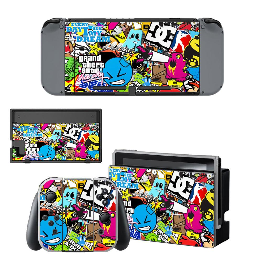 Gta 5 Nintendoswitch Skin Vinyl Sticker Decal Cover For Nintendo Switch Full Set Faceplate Stickers Console Joy Con Dock Consoleskins Co